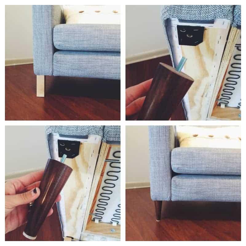 Ikea Karlstad Legs: Ikea Karlstad Chair/Couch Makeover