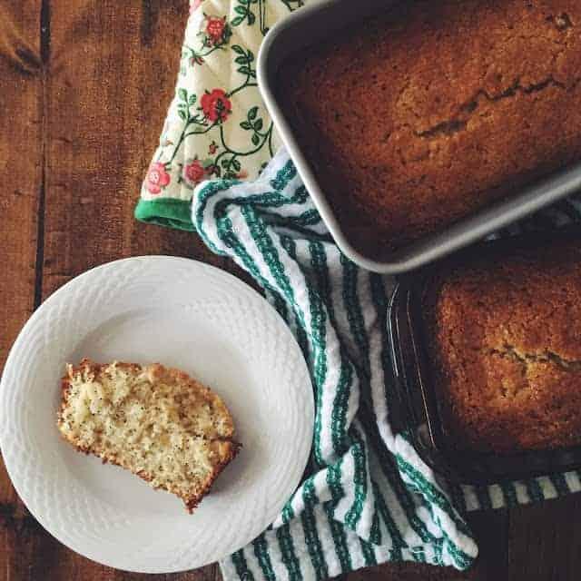 Glazed Lemon Poppyseed Bread