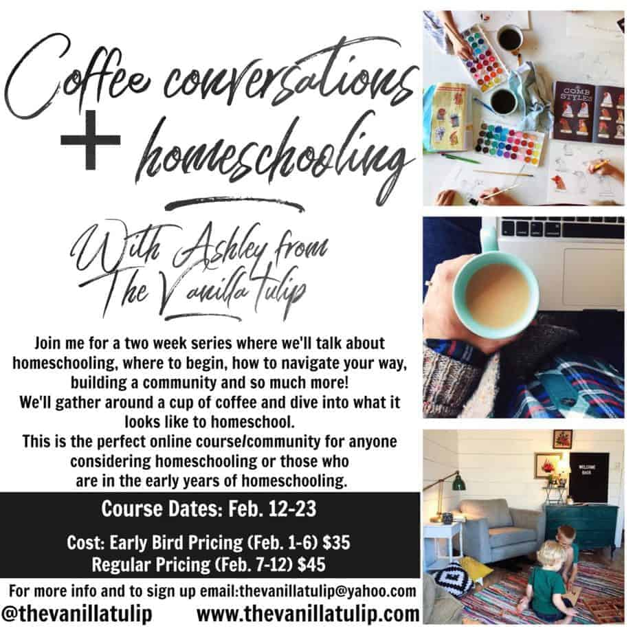 Coffee Conversations: Online Homeschooling Course