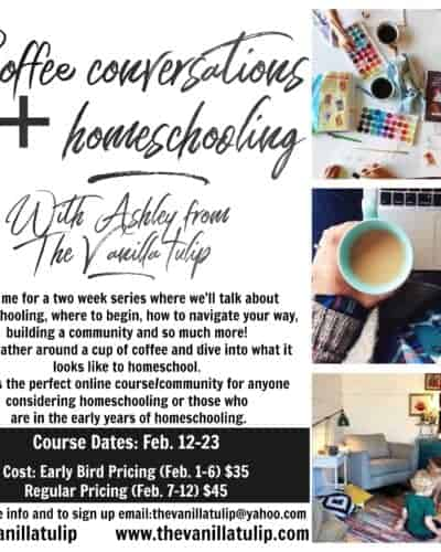 Coffee Conversations: Online Homeschooling Course