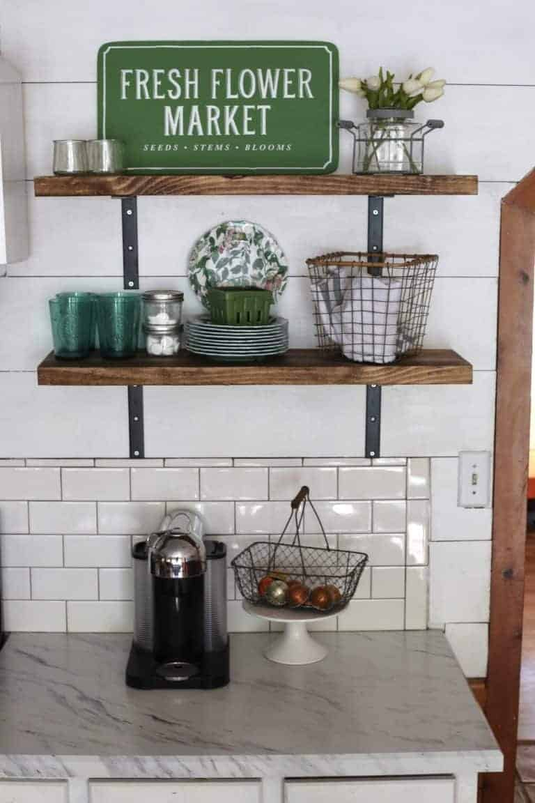 DIY and Inexpensive Open Shelving
