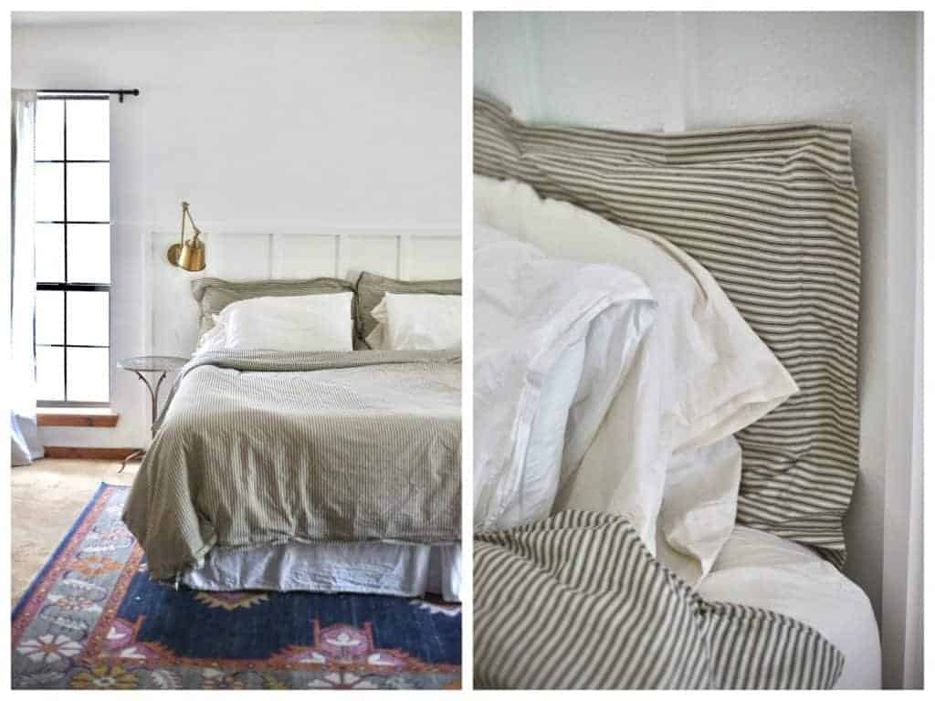 Farmhouse Ticking Bedding